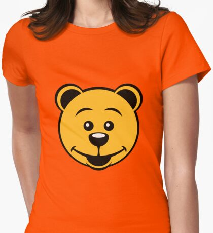Teddy Bear (Smile) Womens Fitted T-Shirt