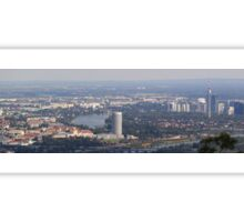 View Over 21th And 22th District, Vienna Austria Sticker