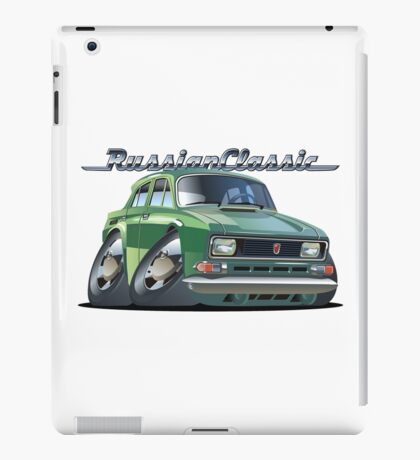 Cartoon retro car iPad Case/Skin