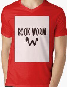 Book Worm Mens V-Neck T-Shirt