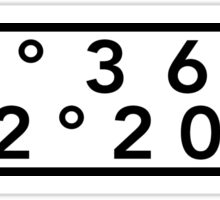 Seattle Coordinates Sticker