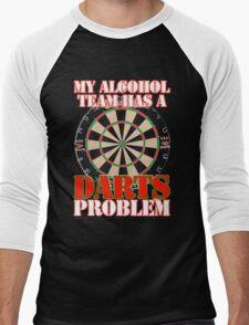 My Alcohol Team Darts Men's Baseball ¾ T-Shirt