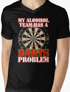 My Alcohol Team Darts Mens V-Neck T-Shirt