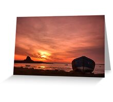 Day Breaks at Holy Island Greeting Card