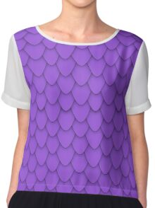Purple Dragon Scales Chiffon Top
