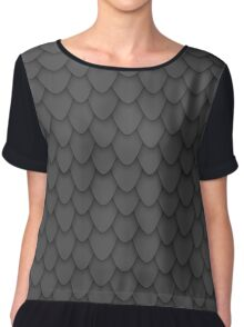 Black Dragon Scales Chiffon Top