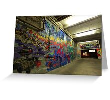 Graffiti Downtown Boise, ID Greeting Card