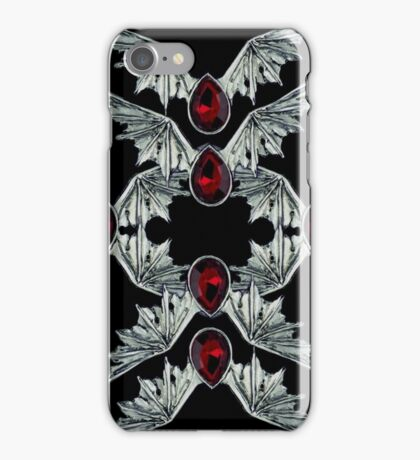 Gothic Blood Stone Bat Wings iPhone Case/Skin