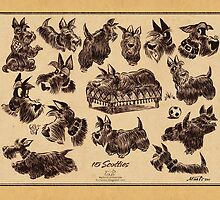 15 scotties by groovyart