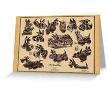 15 scotties Greeting Card