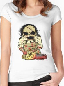 Leatherface. The Texas Chainsaw Massacre Women's Fitted Scoop T-Shirt