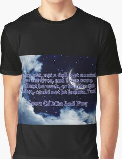 A Court of Mist and Fury Quote Graphic T-Shirt