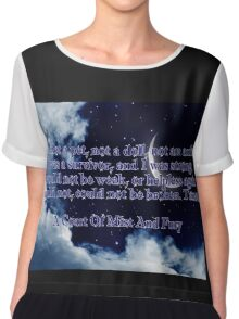 A Court of Mist and Fury Quote Chiffon Top