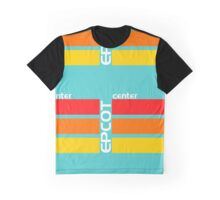 Epcot Center Turquoise Design  Graphic T-Shirt