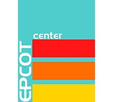 Epcot Center Turquoise Design  Photographic Print