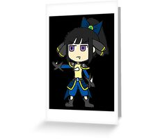 Samurai Warriors x Smash Bros - Ranmaru Mori x Lucario Greeting Card
