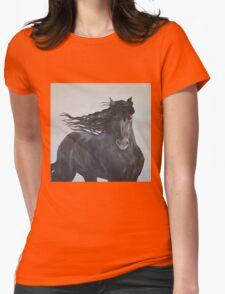 Friesian Horse Womens Fitted T-Shirt