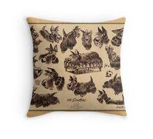 15 scotties Throw Pillow