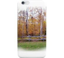 Fence line iPhone Case/Skin