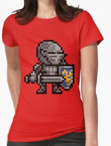 Fluted Armor Pixel Art Womens Fitted T-Shirt