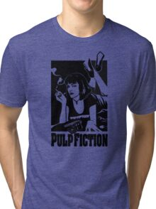 -TARANTINO- Pulp Fiction Cover Tri-blend T-Shirt