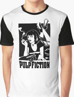 -TARANTINO- Pulp Fiction Cover Graphic T-Shirt
