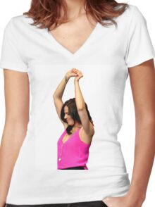 Lana Parrilla dancing queen Women's Fitted V-Neck T-Shirt