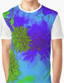 Blue Floral Graphic T-Shirt