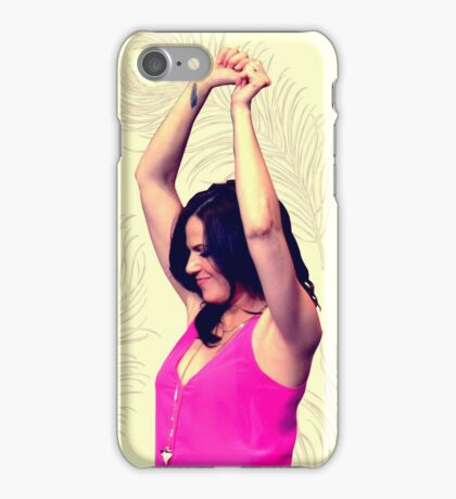 Lana Parrilla dancing iPhone Case/Skin