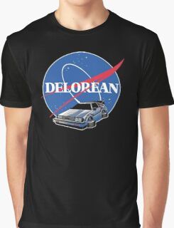 -MOVIES- Back To The Future Nasa Style Graphic T-Shirt