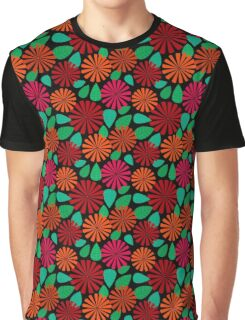 Flowers and Leaves Graphic T-Shirt