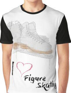 I heart Figure Skating Skates Graphic T-Shirt