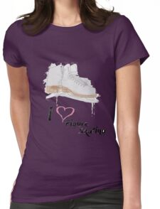 I heart Figure Skating Skates Womens Fitted T-Shirt
