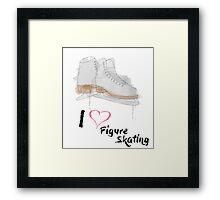 I heart Figure Skating Skates Framed Print