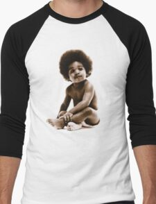 -MUSIC- Notorious Big Baby's Cover Men's Baseball ¾ T-Shirt