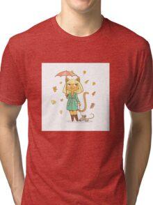 Autumn cat. Tri-blend T-Shirt