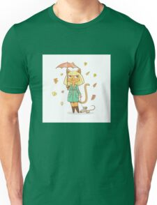 Autumn cat. Unisex T-Shirt