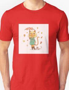 Autumn cat. Unisex T-Shirt