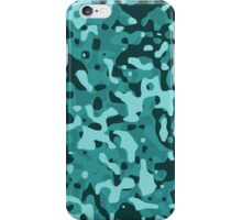 Aqua Blue and Black Army Camouflage iPhone Case/Skin