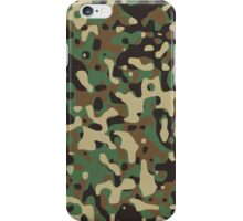 Classic Green Brown Army Camo Camouflage iPhone Case/Skin