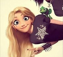 Punk Tangled Rapunzel and Flynn Rider by nellie13