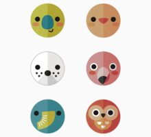 Smiley Faces Stickers - Set 3 by daisy-beatrice
