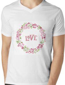 Wreath Of Love Mens V-Neck T-Shirt