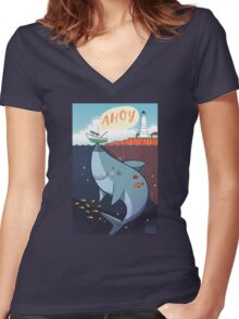 Ahoy! Women's Fitted V-Neck T-Shirt