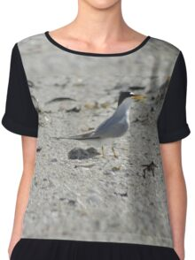 Mama and Baby Tern, As Is Chiffon Top