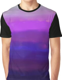 Water Brushed Orchid Graphic T-Shirt