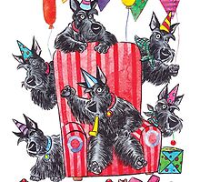 Party scotties by groovyart