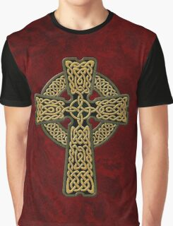 Celtic Cross in gold colors Graphic T-Shirt