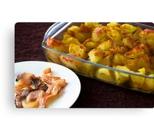 Bacon and hot potatoes Canvas Print