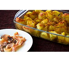 Bacon and hot potatoes Photographic Print